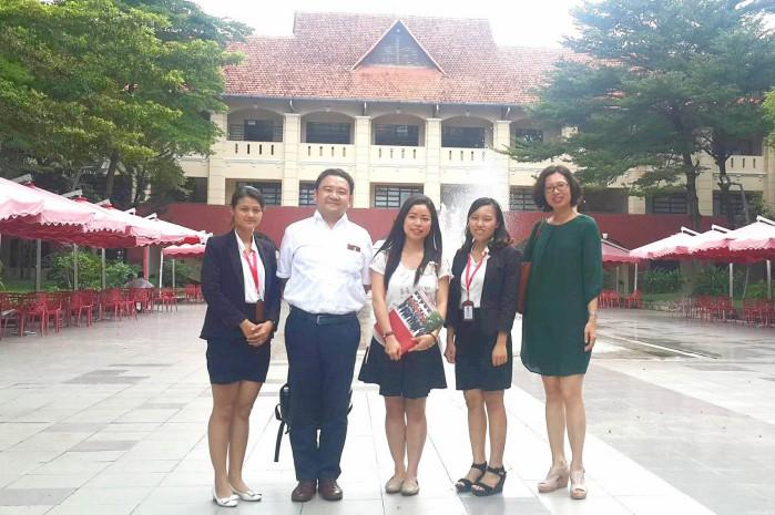 Đoàn Đại học Chinan tham quan campus DNTU