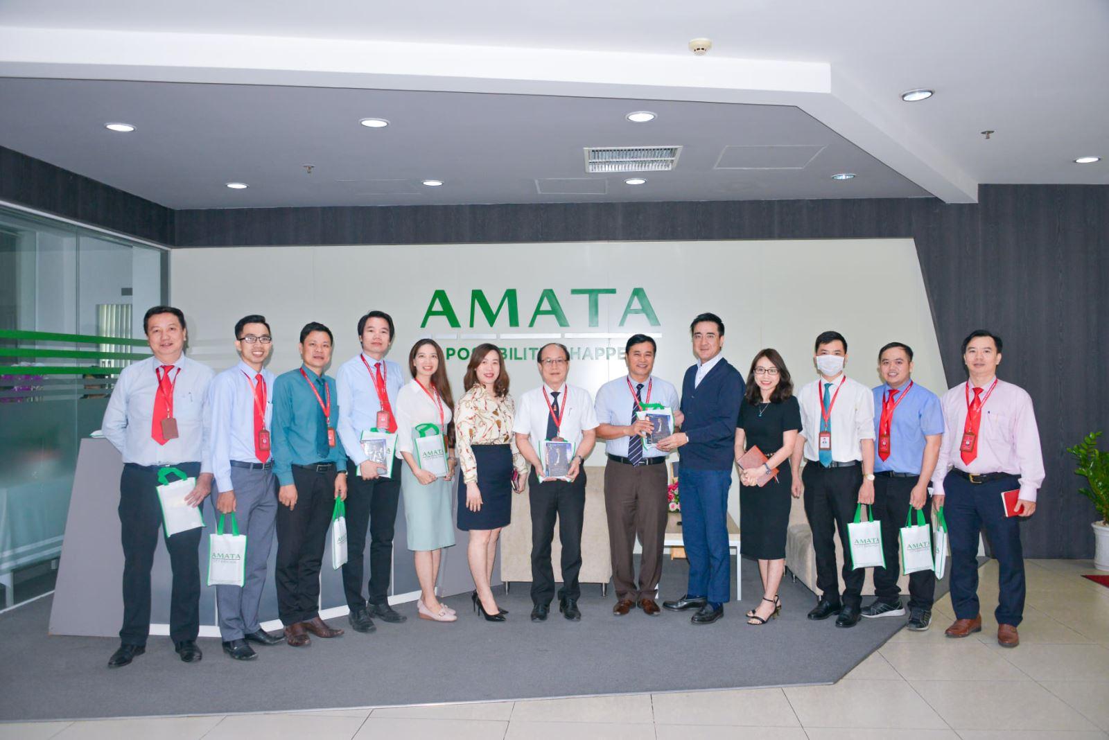 Trường Đại học Công nghệ Đồng Nai đến tham quan và trao đổi các chiến lược đào tạo với Công ty Cổ phẩn Đô thị Amata.