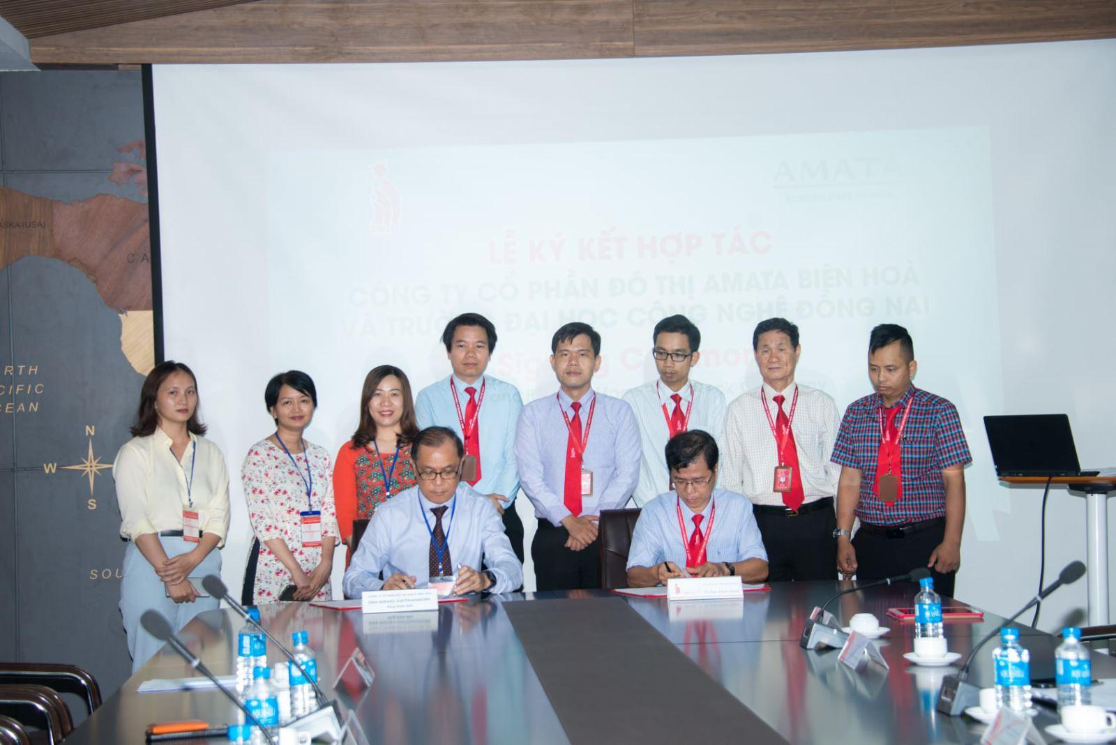 Ký kết hợp tác giữa Trường Đại học Công nghệ Đồng Nai và Công ty CP Đô thị Amata Biên Hòa