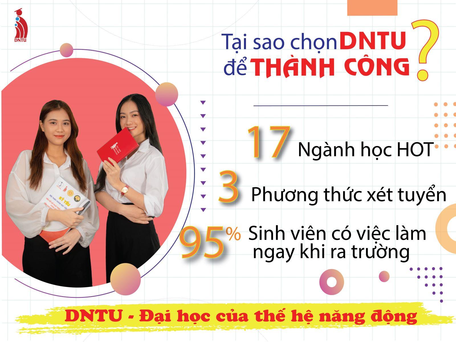 Tại sao chọn DNTU để thành công?