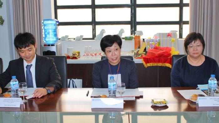 Bà Yoko Shindo và lời đáp bày tỏ niềm vui khi đến thăm và làm việc với trường Đại học Công nghệ Đồng Nai