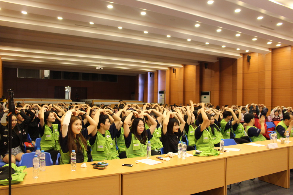 Sẵn sàng cho giao lưu với đoàn tình nguyện Hiệp hội châu Á - Thái Bình Dương đến từ Hàn Quốc