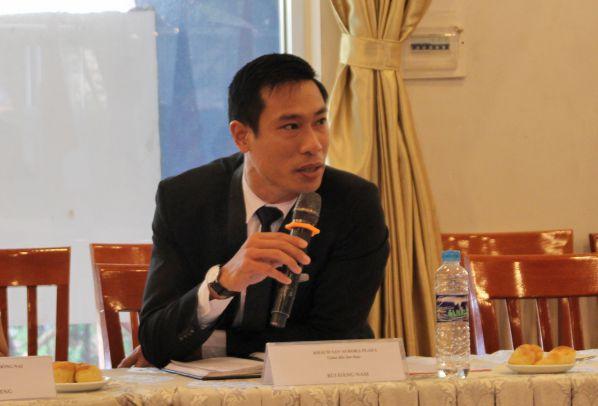 Ông Bùi Đăng Nam - Giám đốc ẩm thực khách sạn Aurora phát biểu trong lễ ký