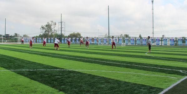 Nhờ quyết tâm cao độ, hôm nay các bạn sinh viên đã có hẳn một sân chơi như thế này