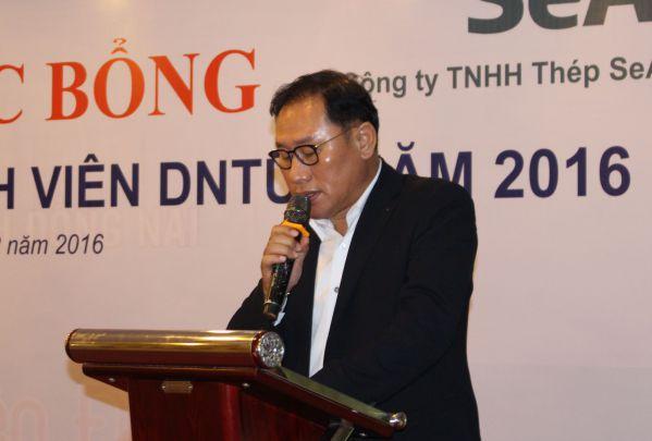 Ông Nam Hyung - Kun - Tổng Giám đốc Công ty SeAH phát biểu trong buổi lễ