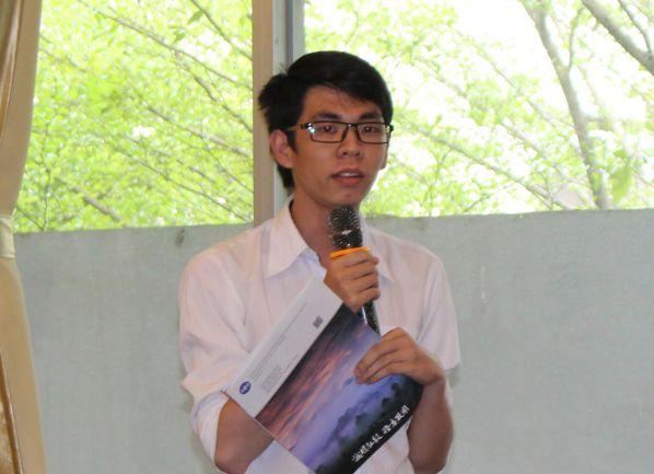Sinh viên Lương Mạnh Cường đặt câu hỏi