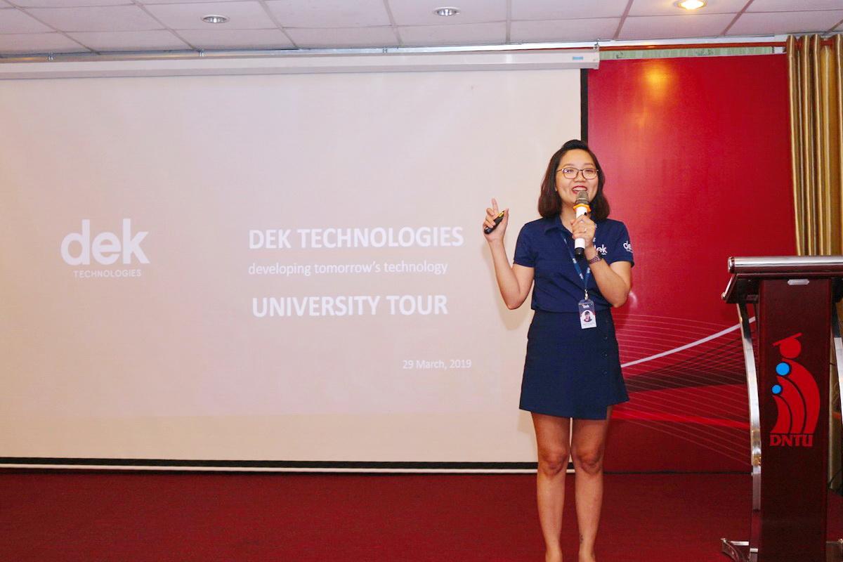 Hội thảo cơ hội việc làm tại DEK Technologies Sinh viên ngành Công nghệ Thông tin