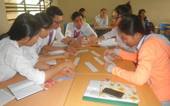 Một số hình ảnh trong giờ học tiếng Anh tại lớp