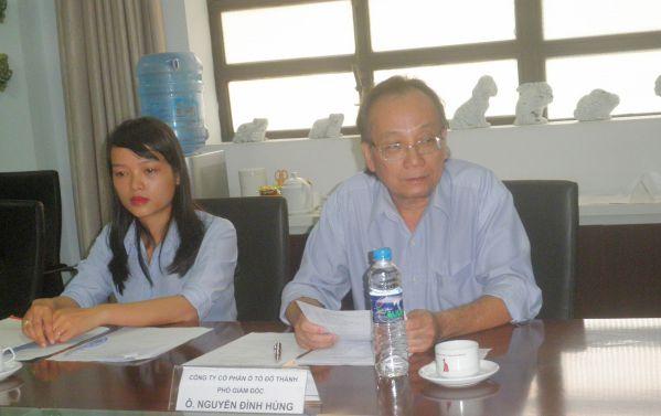 Nguyễn Đình Hùng - PGĐ Công ty Đô Thành trao đổi trong tọa đàm