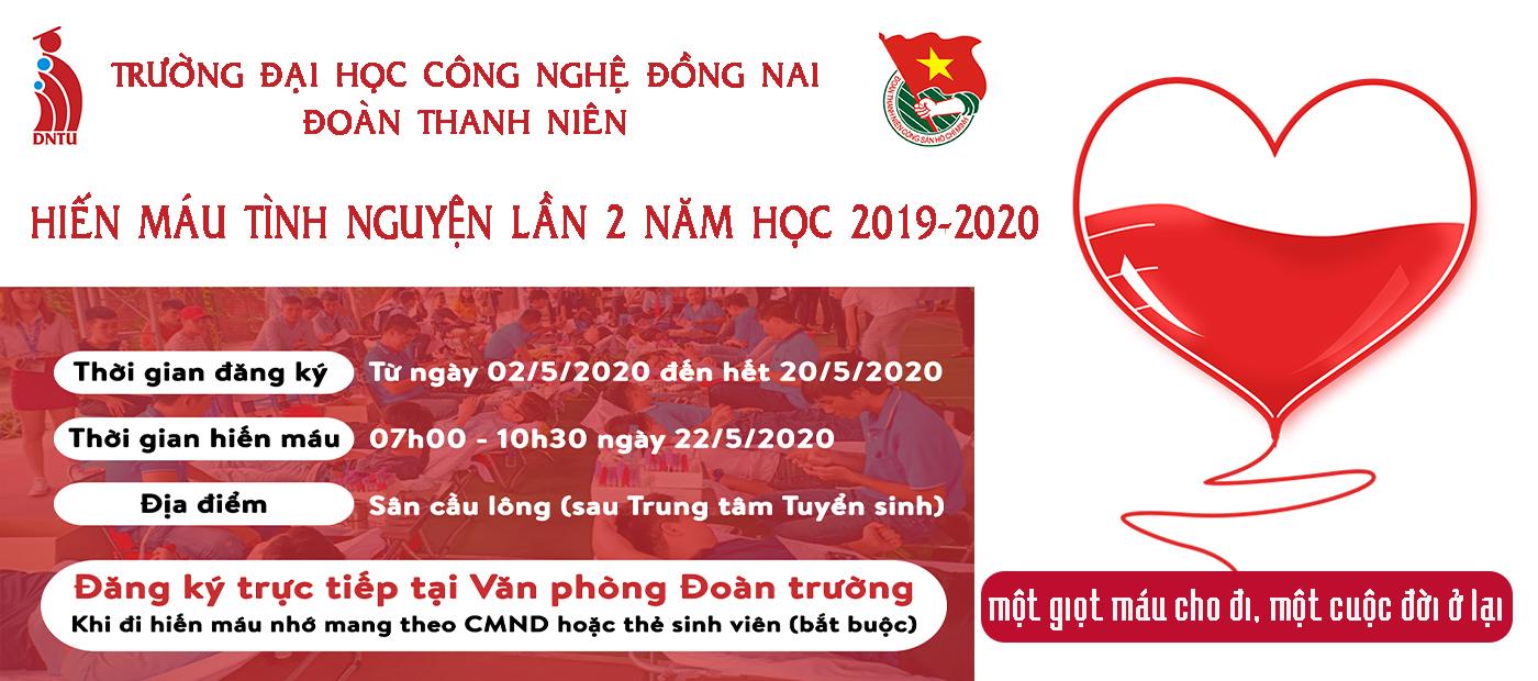 DNTU vận động hiến máu tình nguyện lần 2 năm học 2019-2020