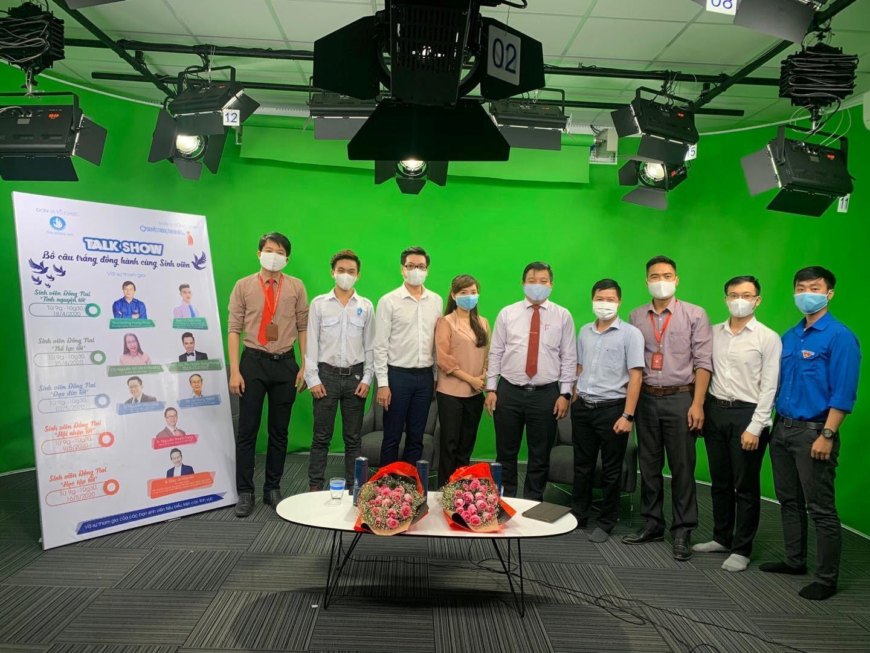 """Hội sinh viên tỉnh Đồng nai tổ chức Talkshow """"Bồ câu trắng đồng hành cùng sinh viên"""" tại Trường quay DNTU"""
