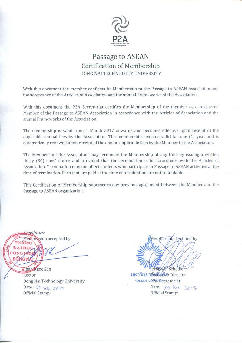 Biên bản thỏa thuận gia nhập tổ chức P2A với hơn 68 trường và 1 triệu sinh viên tại Đông Nam Á