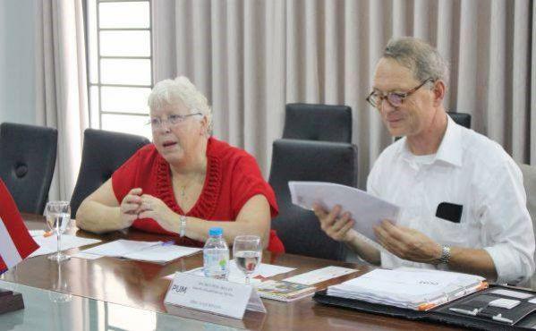 Bà Anneke Bal-Atsma trong chương trình làm việc tại DNTU