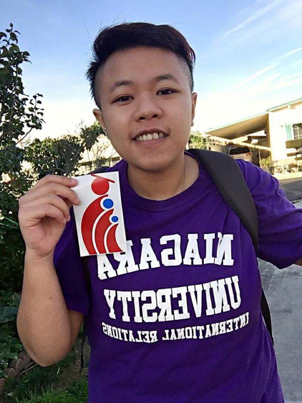 Bạn Nguyễn Phạm Anh Quý tại trường Đại học Niagara tháng 9/2015